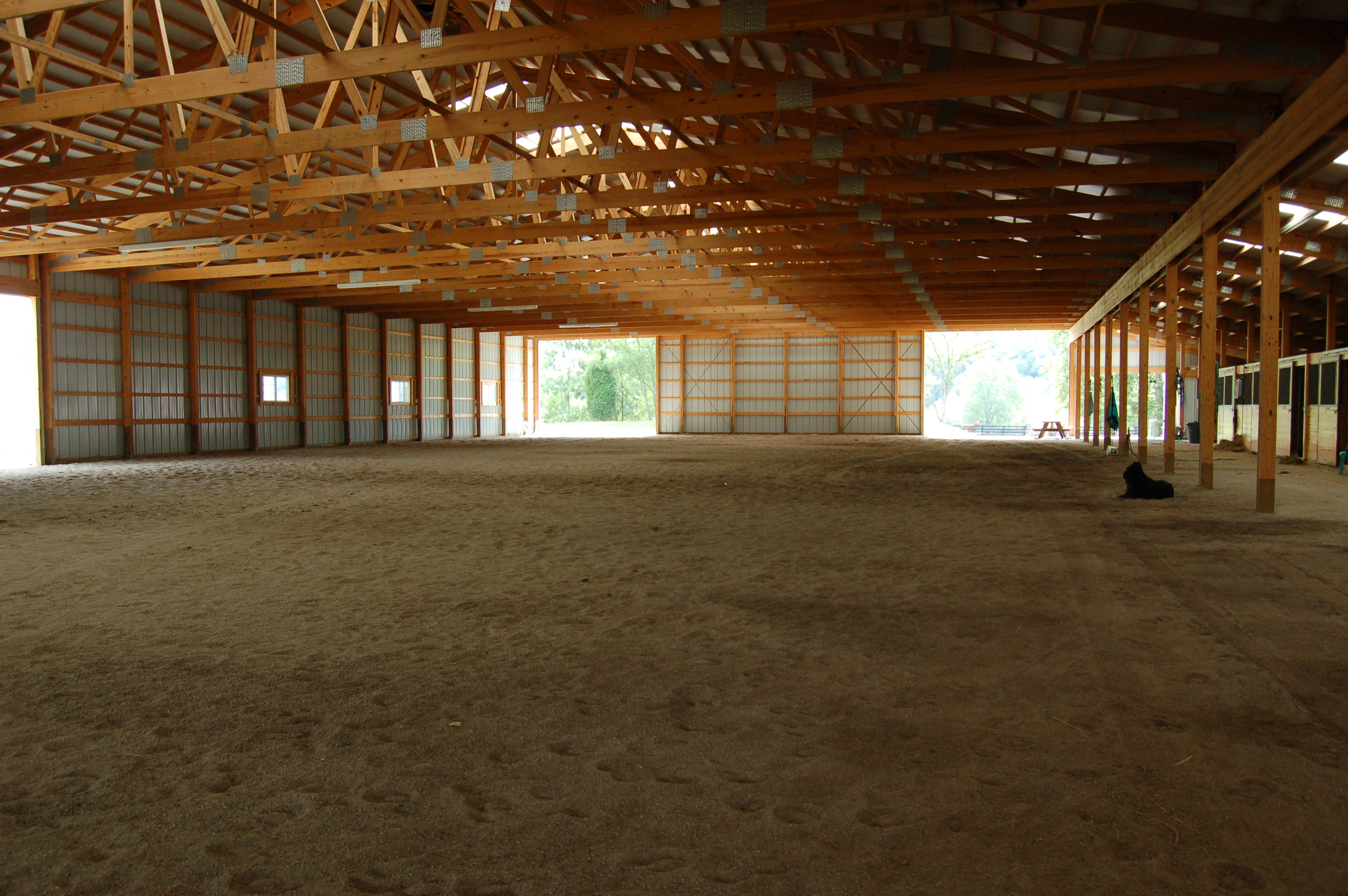 Inside the Indoor Arena