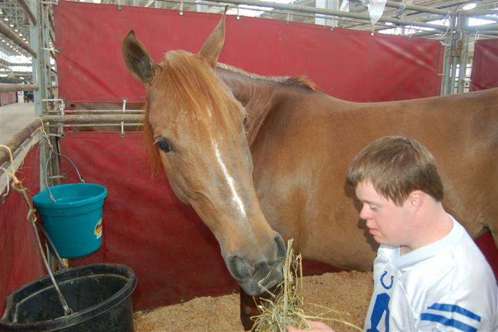 Whittnee Meets Josh- a young man with Downs Syndrome