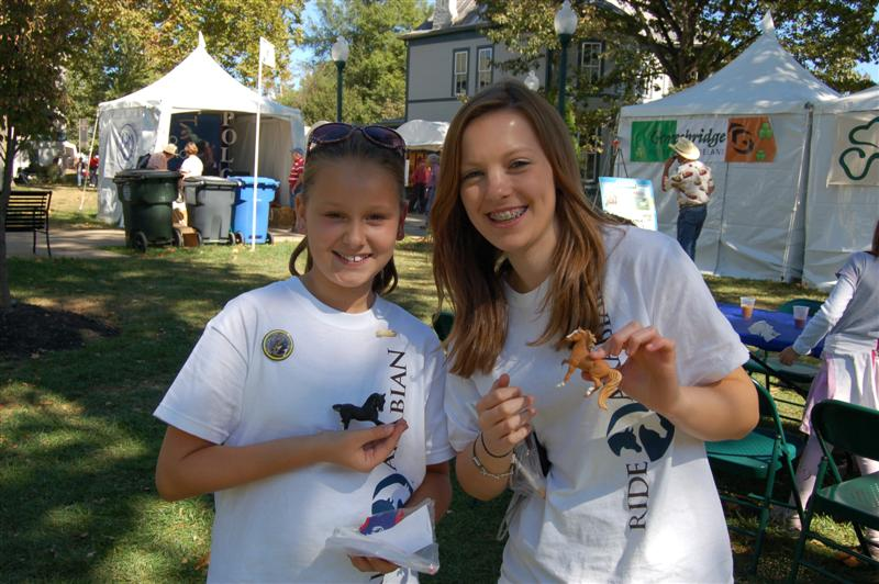 Brinley & Kathryn paint Breyers at WEG